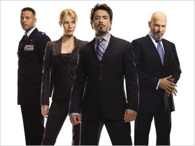 El reparto protagonista de Iron Man